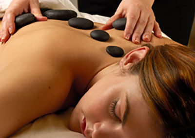 Spa Massage Hot Mineral Stone Treatment